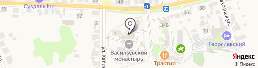 Свято-Васильевский мужской епархиальный монастырь на карте Суздаля