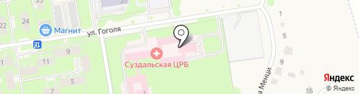 Суздальская центральная районная больница на карте Суздаля