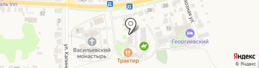 Хозмаг на карте Суздаля
