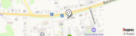 Дом с Голубыми Елями на карте Суздаля