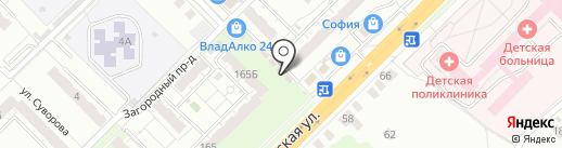 Магазин свежего мяса на карте Владимира