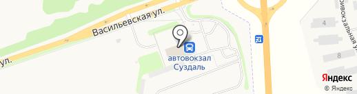 Автовокзал на карте Суздаля