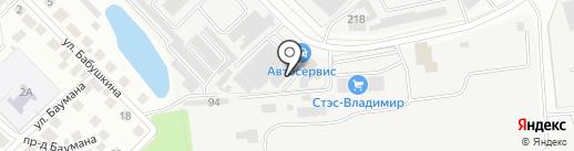 Аверс на карте Владимира