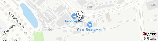 Аквалюкс на карте Владимира