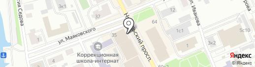 Микрофинансовая организация ВДМ-ФИНАНС на карте Архангельска