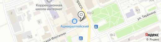 Лёвушка на карте Архангельска