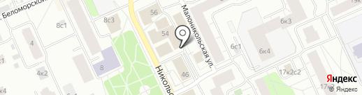 Техосмотр, ЗАО на карте Архангельска