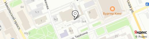 Стрекоза на карте Архангельска