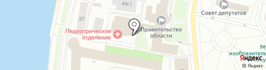 Министерство образования и науки Архангельской области на карте Архангельска