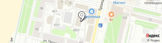 ПО-Проект на карте Архангельска