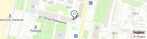 Администрация Октябрьского территориального округа на карте Архангельска