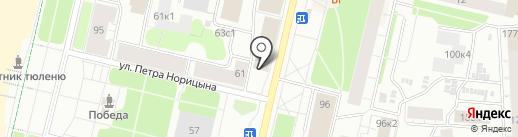 Карамель на карте Архангельска
