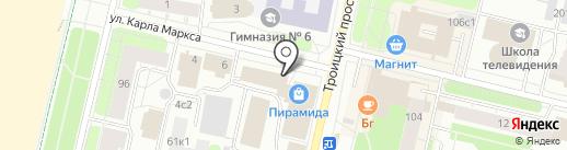 Print Холст на карте Архангельска