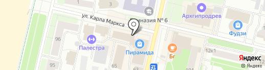 АТК на карте Архангельска