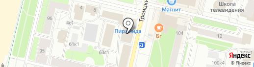 Сертификация Плюс на карте Архангельска