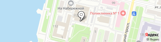 Биармия на карте Архангельска