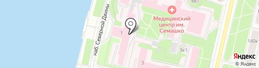 Армида на карте Архангельска