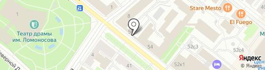Кофе Лайк на карте Архангельска