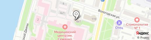 Северо-Западная строительная компания на карте Архангельска
