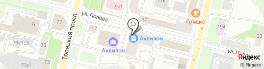 Банкомат, Банк Финсервис на карте Архангельска