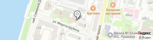 Архстройснаб на карте Архангельска