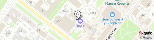 Студия маникюра и педикюра на карте Архангельска
