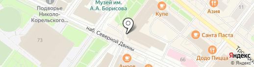 Пожзащита на карте Архангельска