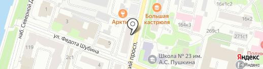 Веста на карте Архангельска