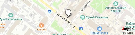 Северо-Западная региональная коллегия адвокатов на карте Архангельска