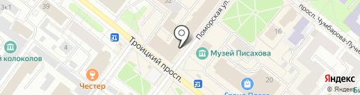 Планета брюк на карте Архангельска