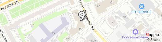 Оберег на карте Архангельска
