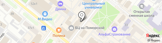 Украинская национально-культурная автономия на карте Архангельска