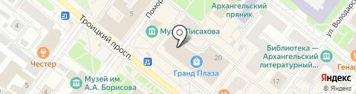 Норд Леди на карте Архангельска
