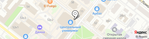 Kinder на карте Архангельска