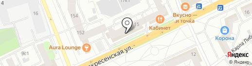 Сеть продуктовых магазинов на карте Архангельска