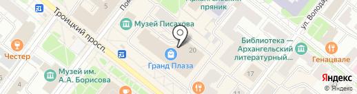 Аччессори на карте Архангельска