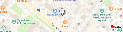 Балтинвестбанк, ПАО на карте Архангельска