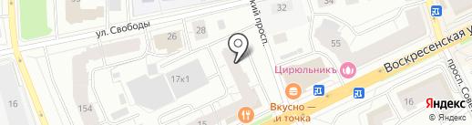 Нотариус Сорокина С.А. на карте Архангельска