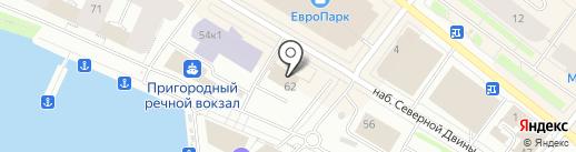 Букетная LAVKA на карте Архангельска