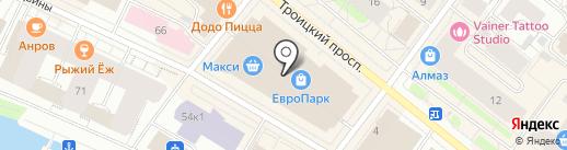 Зеркальный лабиринт на карте Архангельска