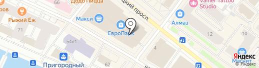 Счастливый взгляд на карте Архангельска