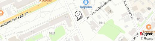 Акварель на карте Архангельска