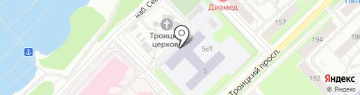 Средняя школа №1 на карте Архангельска