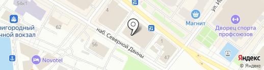 Билайн на карте Архангельска