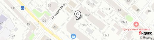 Акварим на карте Архангельска
