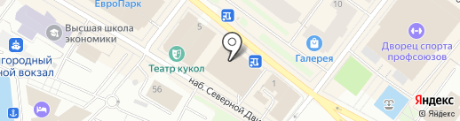 Bonito на карте Архангельска