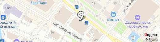 Сорванец на карте Архангельска