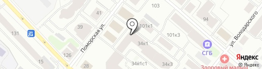 Союз рыболовецких колхозов Архангельской области на карте Архангельска