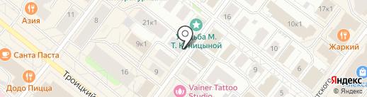 Тритон на карте Архангельска
