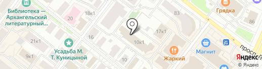 Граф Принт на карте Архангельска